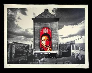 Shepard Fairey, Commanda Mural, 2015