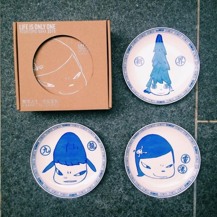 Yoshitomo Nara, Porcelain Plate Set, 2015