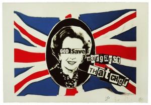 Billy Childish & Jamie Reid, God Save Margaret Thatcher, 2015