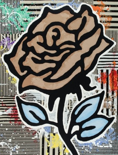 Donald Baechler, Brown Rose, 2015