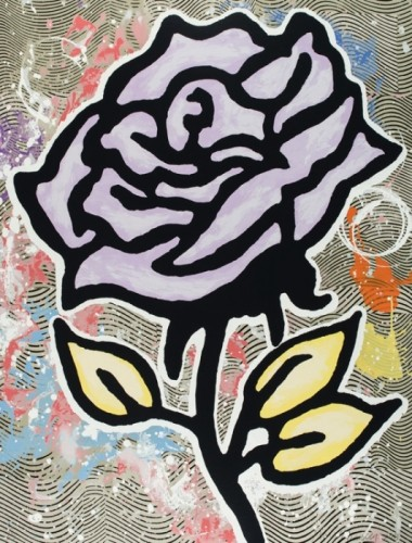 Donald Baechler, Lavendar Rose, 2015