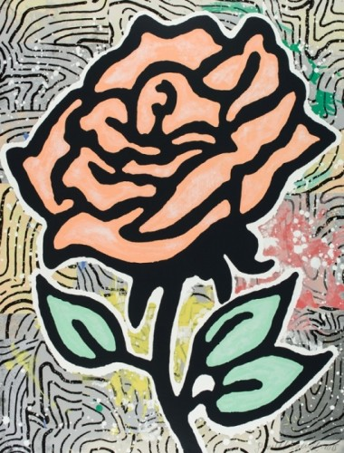 Donald Baechler, Peach Rose, 2015