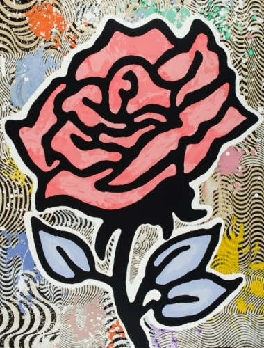 Donald Baechler, Red Rose, 2015