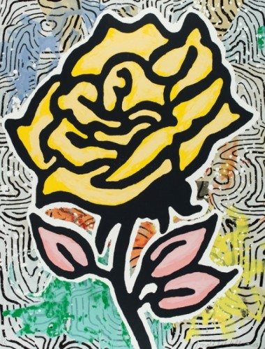 Donald Baechler, Yellow Rose, 2015