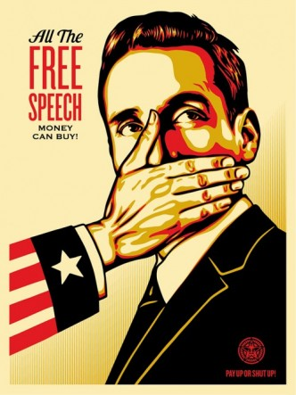 Shepard Fairey, Pay Up Or Shut Up, 2015