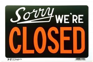 Adam McEwen, Sorry We're Closed, 2012