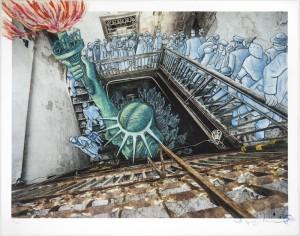 JR x Art Spiegelman, Ghosts of Ellis Island, 2015