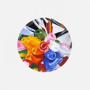 Jeff Koons, Tulips plate, 2015.
