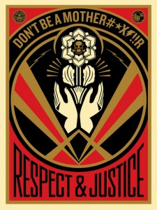 Shepard Fairey, Don't be a MFR, 2015.