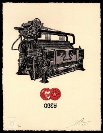 Shepard Fairey, Obey Loom Letterpress, 2015