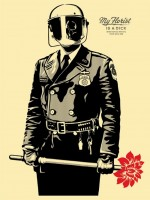 Shepard Fairey, My florist is a dick, 2015.