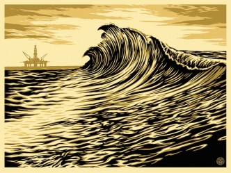 Shepard Fairey, Water Is The New Black, 2015