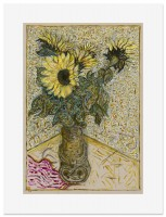 Billy Childish, sunflowers, 2015