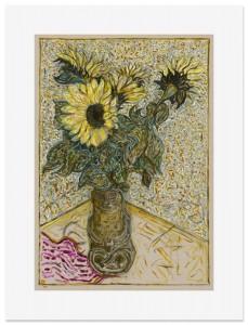 Billy Childish, sunflowers, 2015