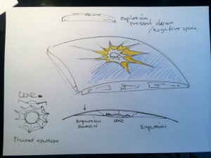 Olafur Eliasson, Early Little Sun Charge sketch