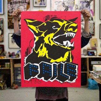 FAILE, Dog Black Light, 2015