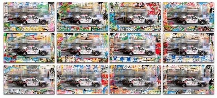 Mr Brainwash, Metro Polisa (Mixed Media), 2015