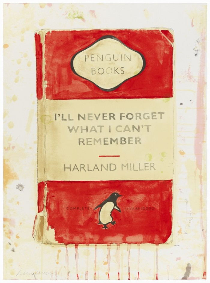 Harland Miller, I'll Never Forget What I Can't Remember, 2015
