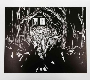 Peter Wächtler, Untitled (Nightly Scene Forest), 2015