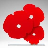 Donald Sultan, Red Poppies, 2015