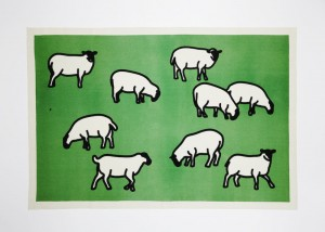 Julian Opie, Sheep, 2014