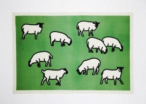 Julian Opie, Sheep, 2014