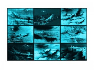 Susan Hiller, Rough Moonlit Nights (Cyan), 2015