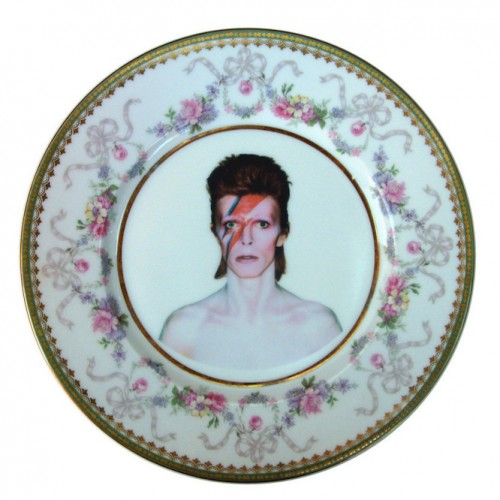 David Bowie x Altered Antique Ceramic Plate – Large plate 1