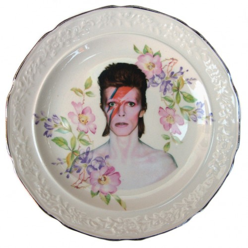 David Bowie x Altered Antique Ceramic Plate – Small plate 2