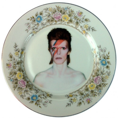 David Bowie x Altered Antique Ceramic Plate – Small plate 3