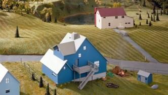 James Casebere, Blue House, 2016