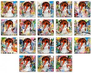 Mr Brainwash, Bowie (print variations), 2016
