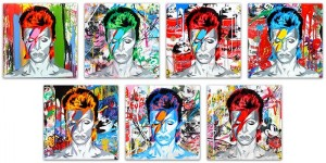 Mr Brainwash, Bowie (canvas variations), 2016