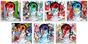 Mr Brainwash, Bowie (canvas variations), 2016