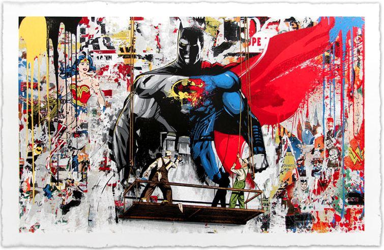 Mr Brainwash Batman Vs Superman Sold New Art