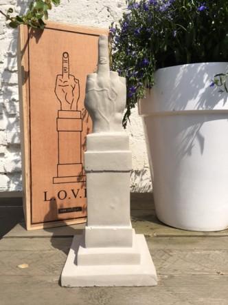Maurizio Cattelan, L.O.V.E. (Concrete Sculpture), 2015