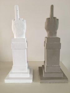 Maurizio Cattelan - Grey and White LOVE