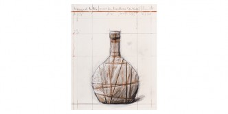 Christo & Jeanne-Claude, Wrapped Bottle..., 2001/07