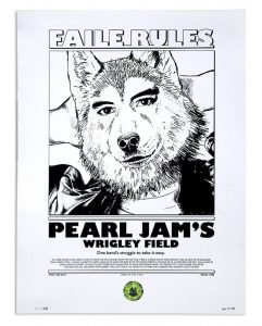 FAILE / Pearl Jam Wrigley Field (Enjoy The Ride - Back side) 2016