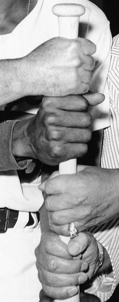 John Baldessari - Four Hands and a Baseball Bat - 2016