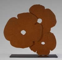 Donald Sultan - Corten Poppies - 2015