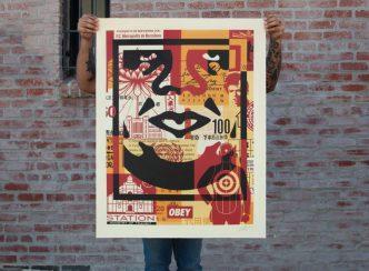 Shepard Fairey - Collage Icon (Bottom) - 2016