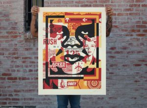 Shepard Fairey - Collage Icon (Middle) - 2016