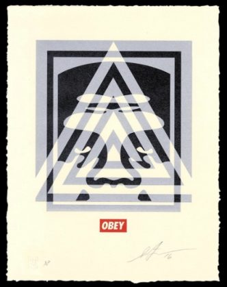Shepard Fairey - Pyramid Top Icon - 2016