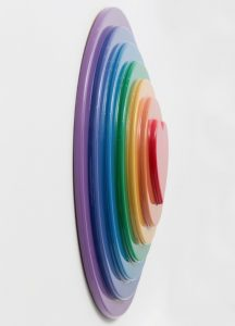 Sir Peter Blake - Rainbow Target - 2016 (side)