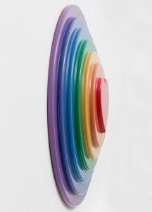 Sir Peter Blake - Rainbow Target - 2016 (side)