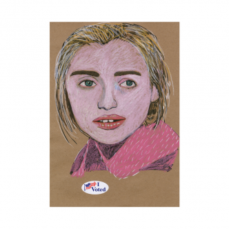 Brian Calvin - Untitled (I Voted) - 2016