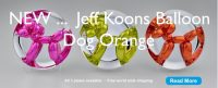 Jeff Koons - 3 Balloon Dog plates