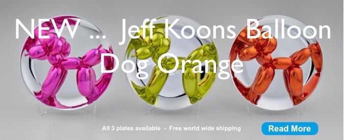Jeff Koons - 3 Balloon Dog plates