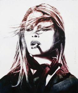 Mr Brainwash - Brigitte Bardot (Purple lips)- 2016